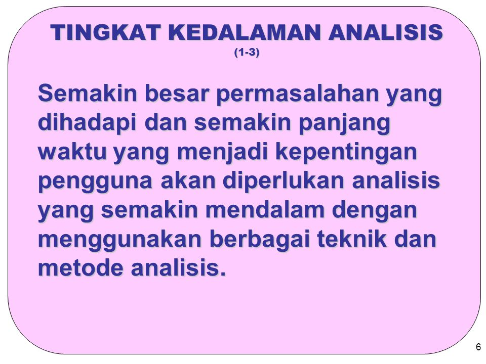 TINGKAT KEDALAMAN ANALISIS (1-3)