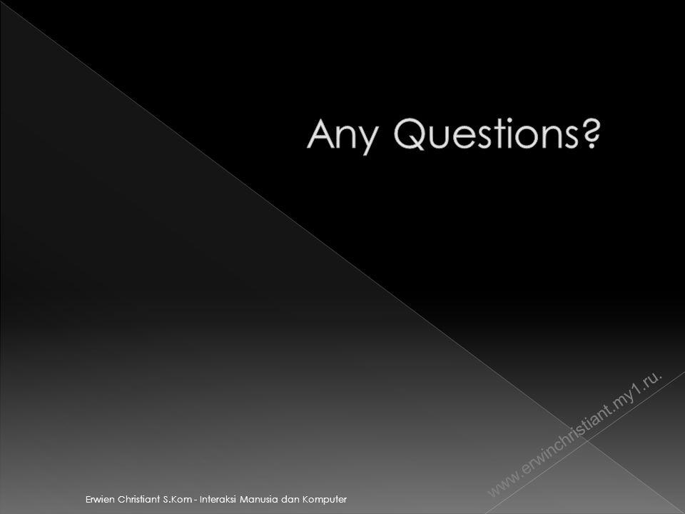 Any Questions www.erwinchristiant.my1.ru.