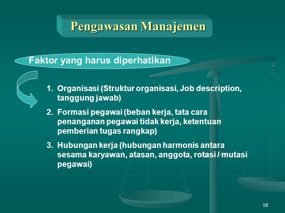 Pengawasan Manajemen Faktor yang harus diperhatikan