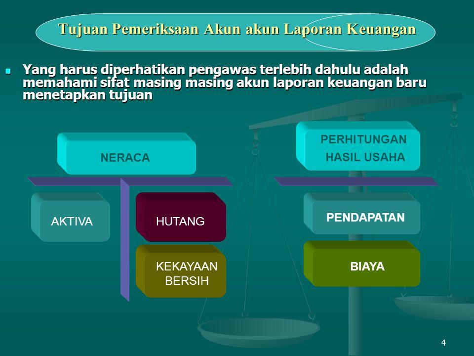 Tujuan Pemeriksaan Akun akun Laporan Keuangan