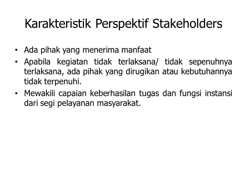 Karakteristik Perspektif Stakeholders