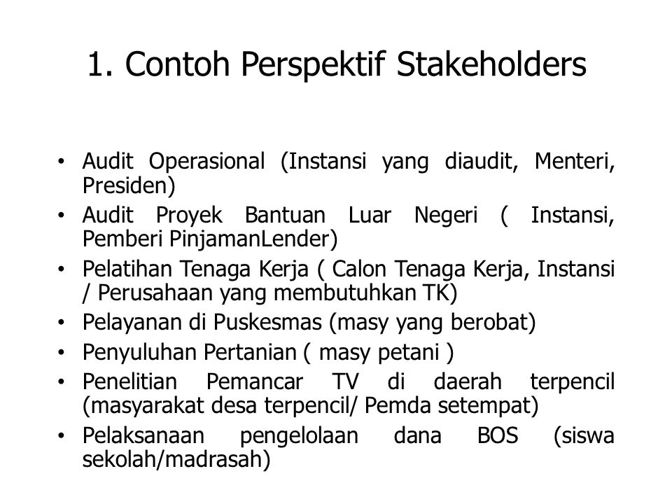 1. Contoh Perspektif Stakeholders