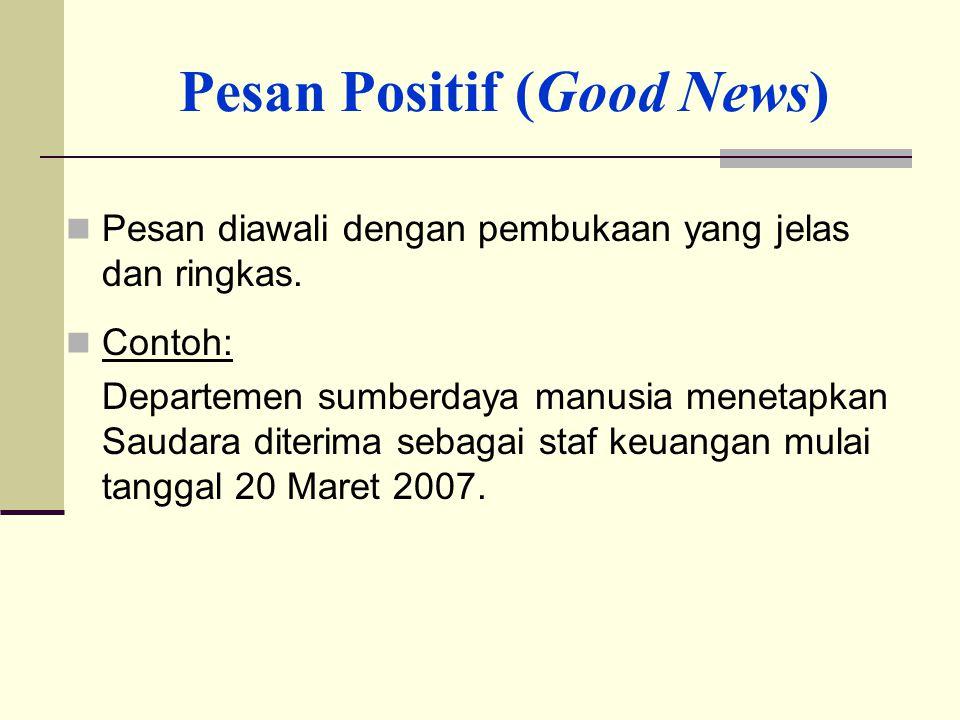Pesan Positif (Good News)