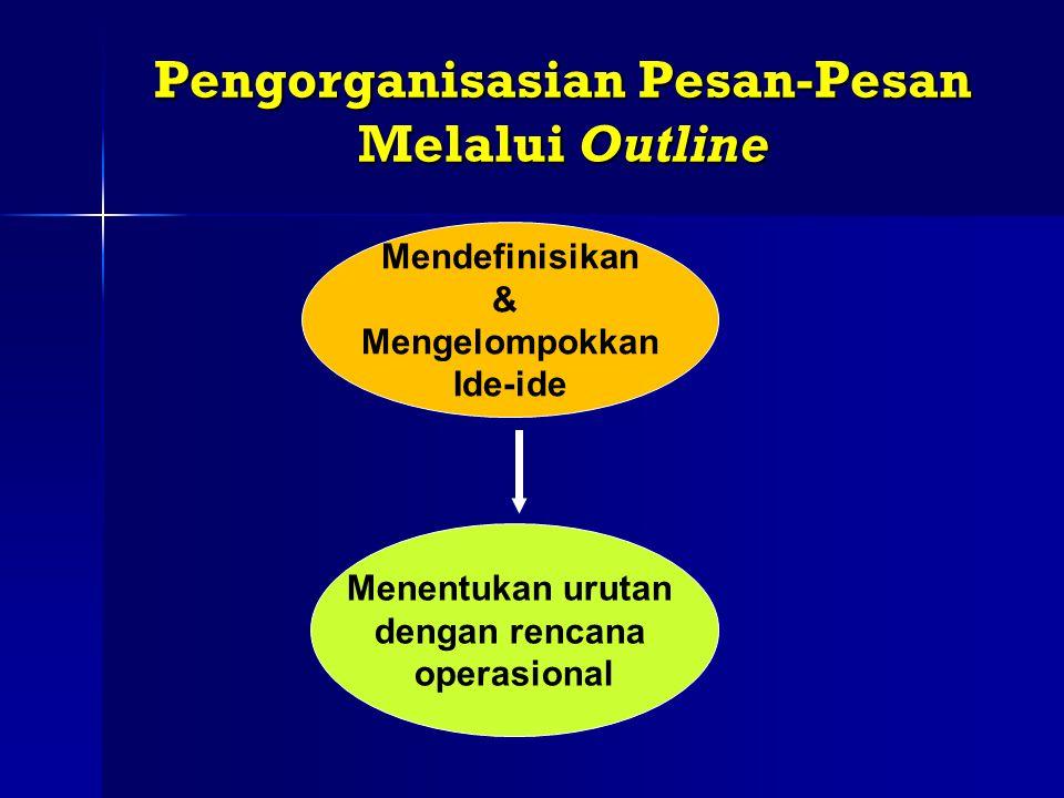 Pengorganisasian Pesan-Pesan Melalui Outline