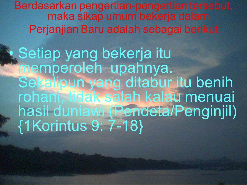 Perjanjian Baru adalah sebagai berikut: