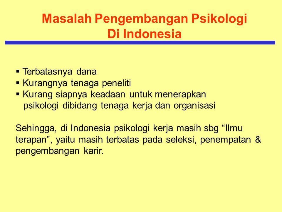 Masalah Pengembangan Psikologi Di Indonesia