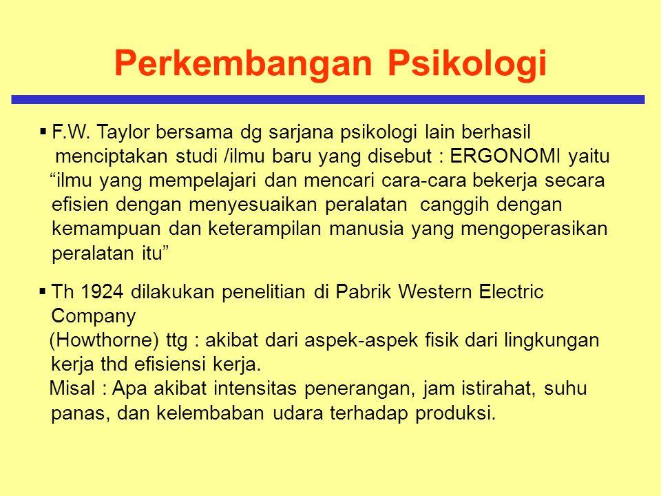 Perkembangan Psikologi