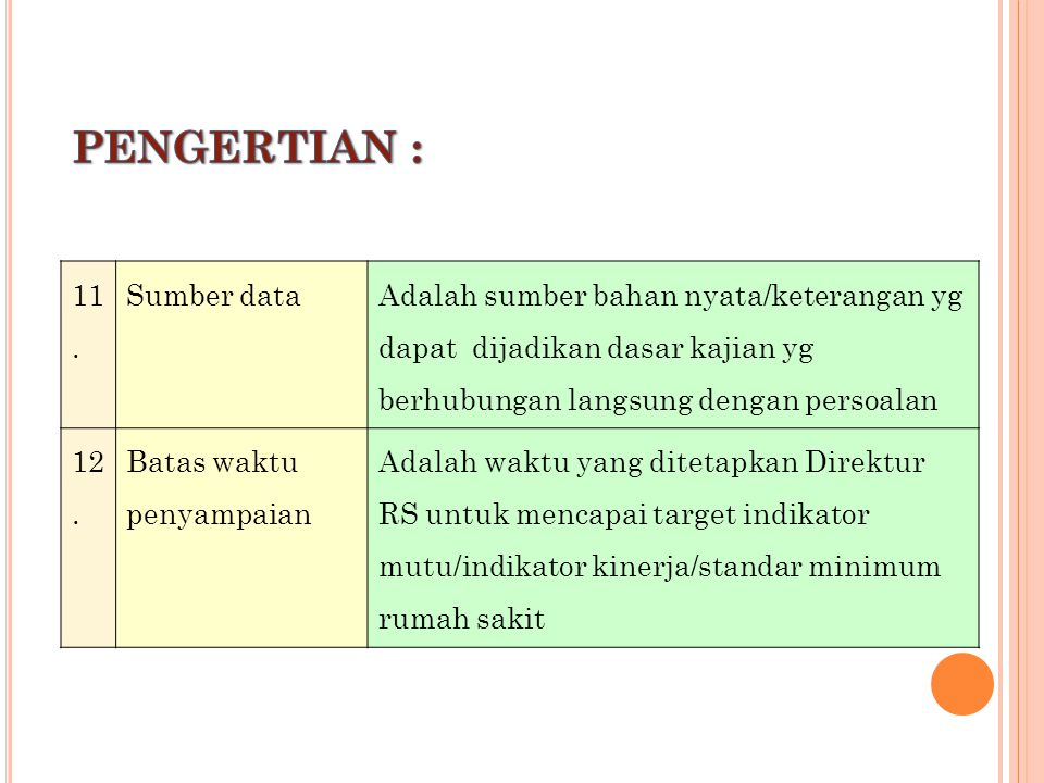 PENGERTIAN : 11. Sumber data