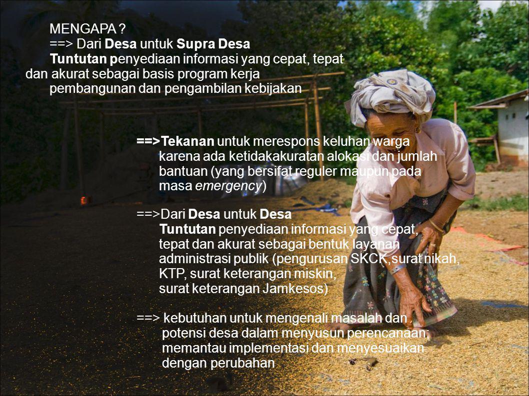 ==> Dari Desa untuk Supra Desa