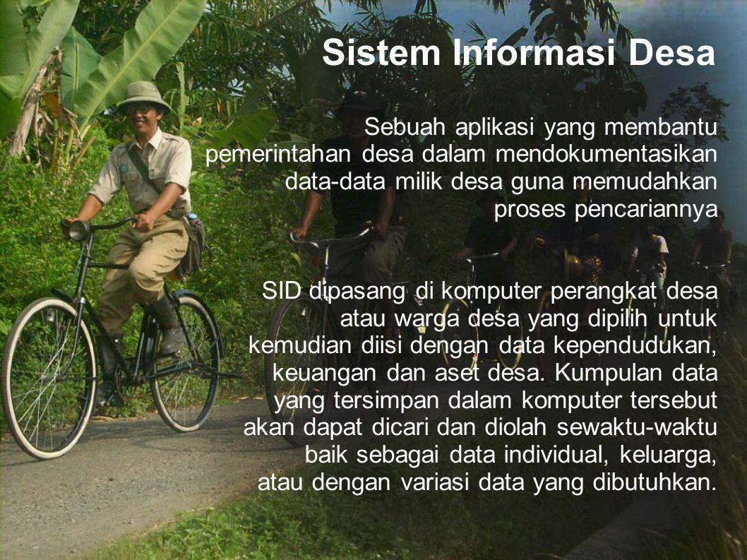Sistem Informasi Desa Sebuah aplikasi yang membantu