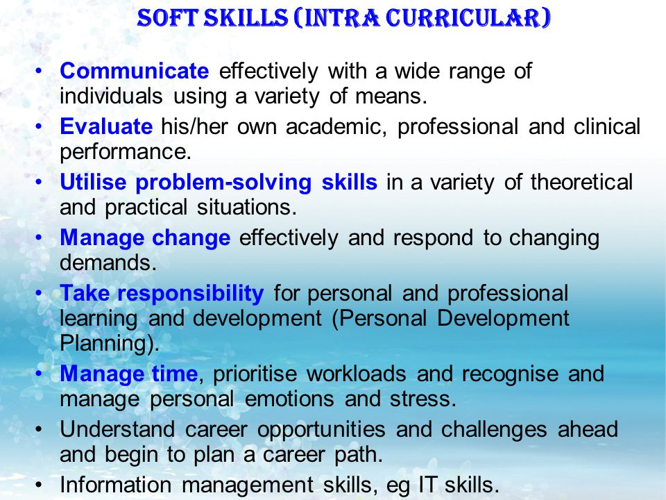 SOFT SKILLS (INTRA CURRICULAR)
