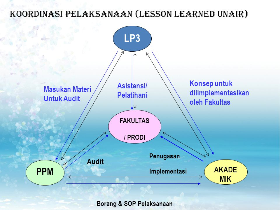 KOORDINASI PELAKSANAAN (Lesson learned unair)