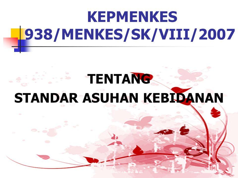KEPMENKES 938/MENKES/SK/VIII/2007