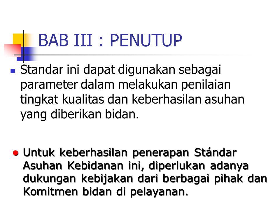 BAB III : PENUTUP
