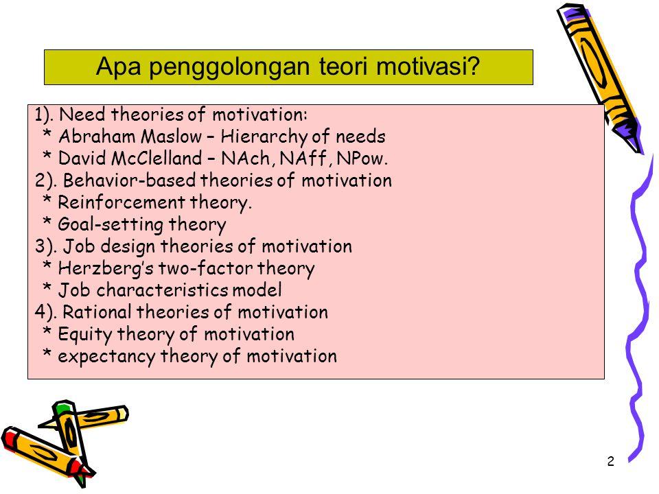 Apa penggolongan teori motivasi