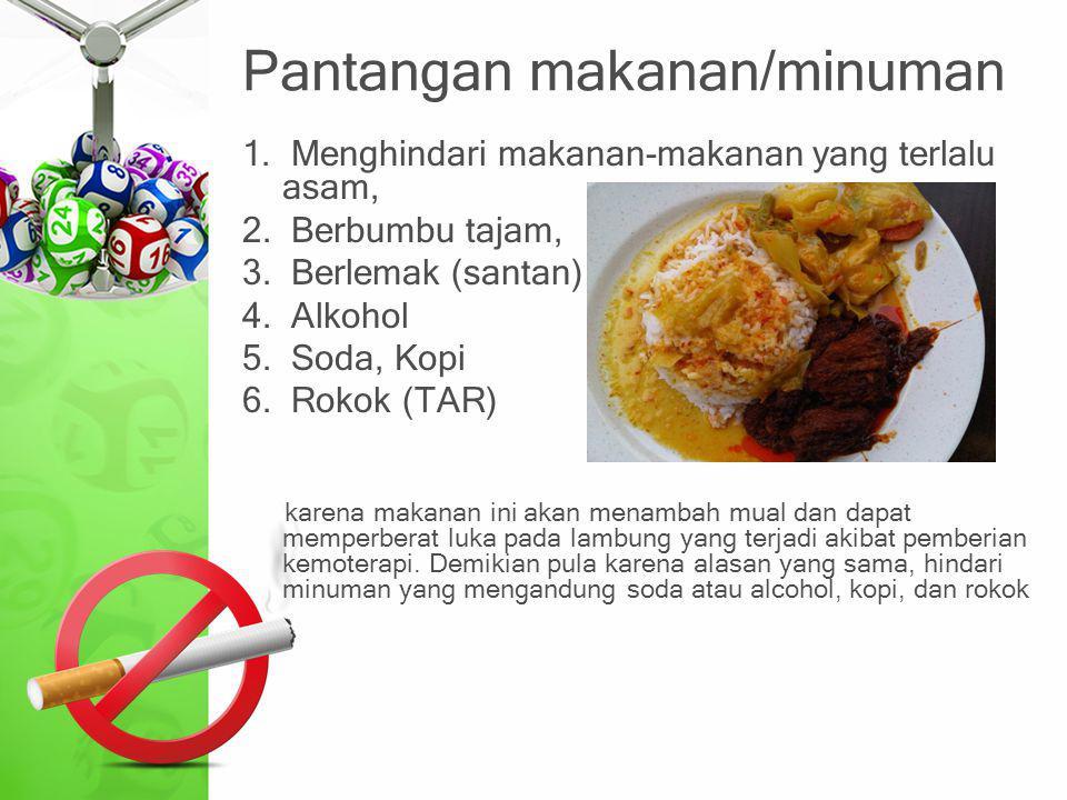 Pantangan makanan/minuman