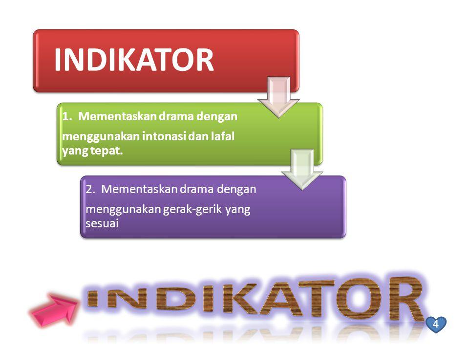 INDIKATOR Indikator 1. Mementaskan drama dengan