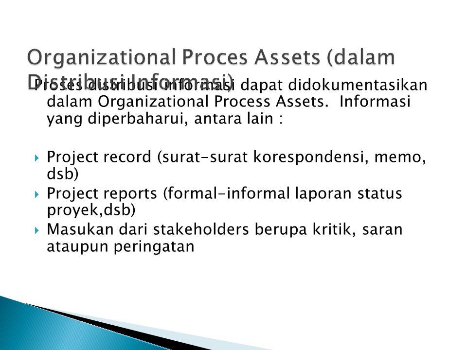 Organizational Proces Assets (dalam Distribusi Informasi)