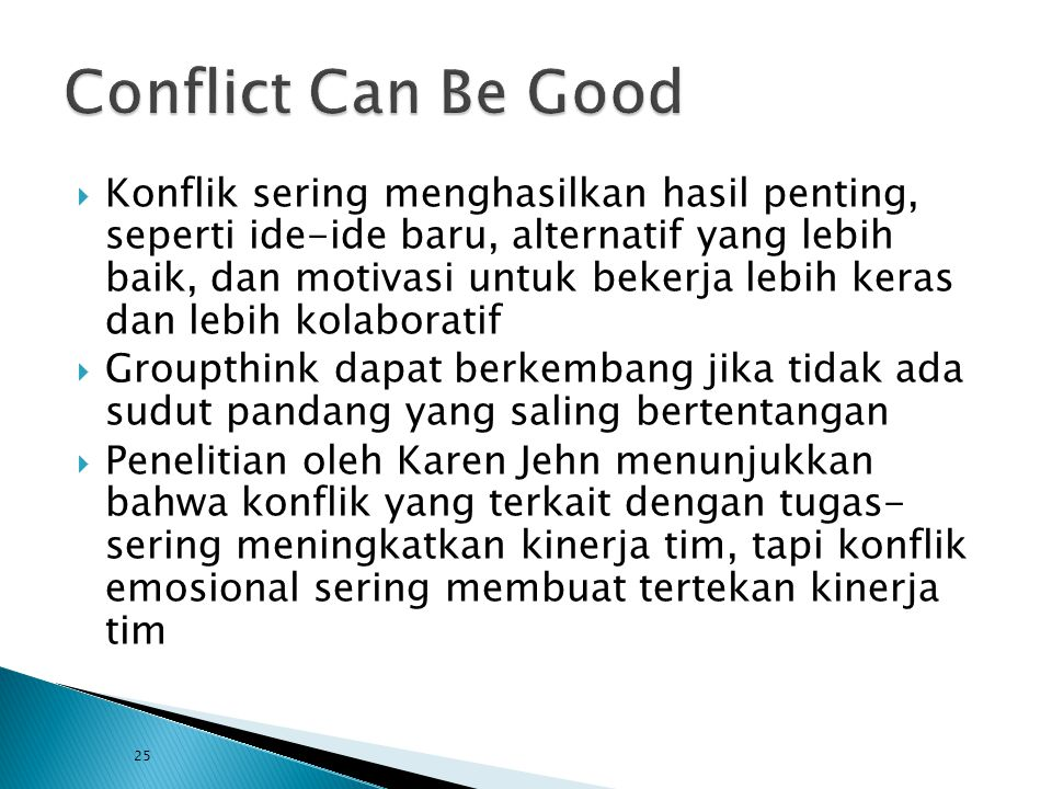 Conflict Can Be Good