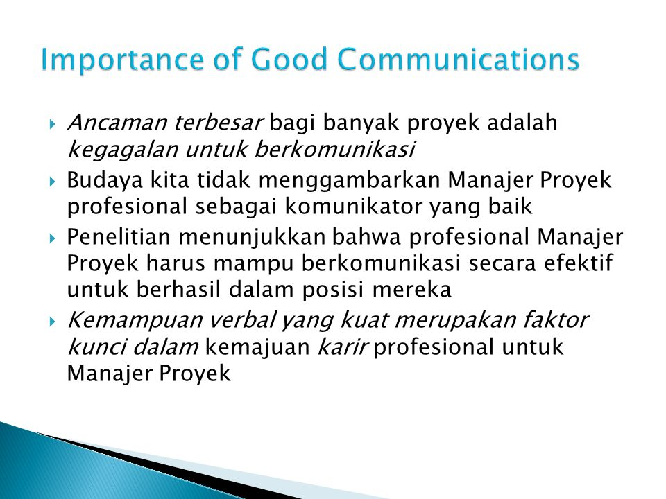 Importance of Good Communications