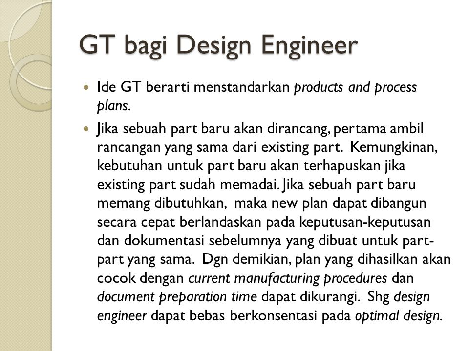 GT bagi Design Engineer