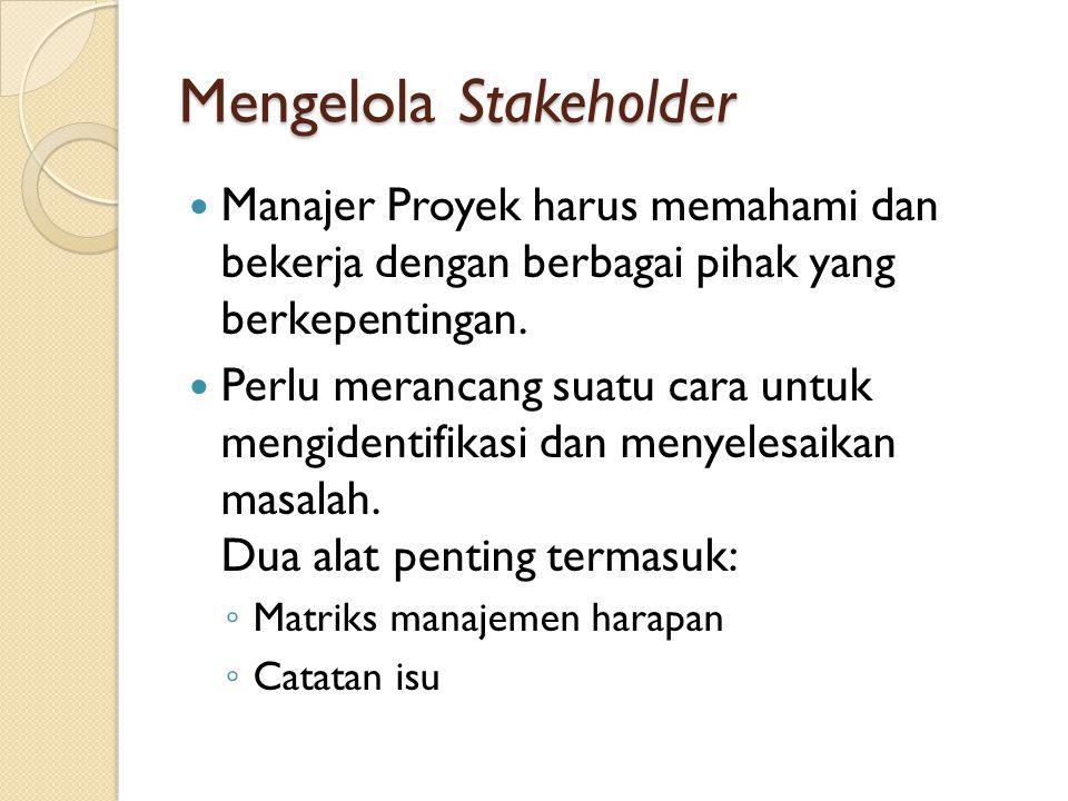 Mengelola Stakeholder