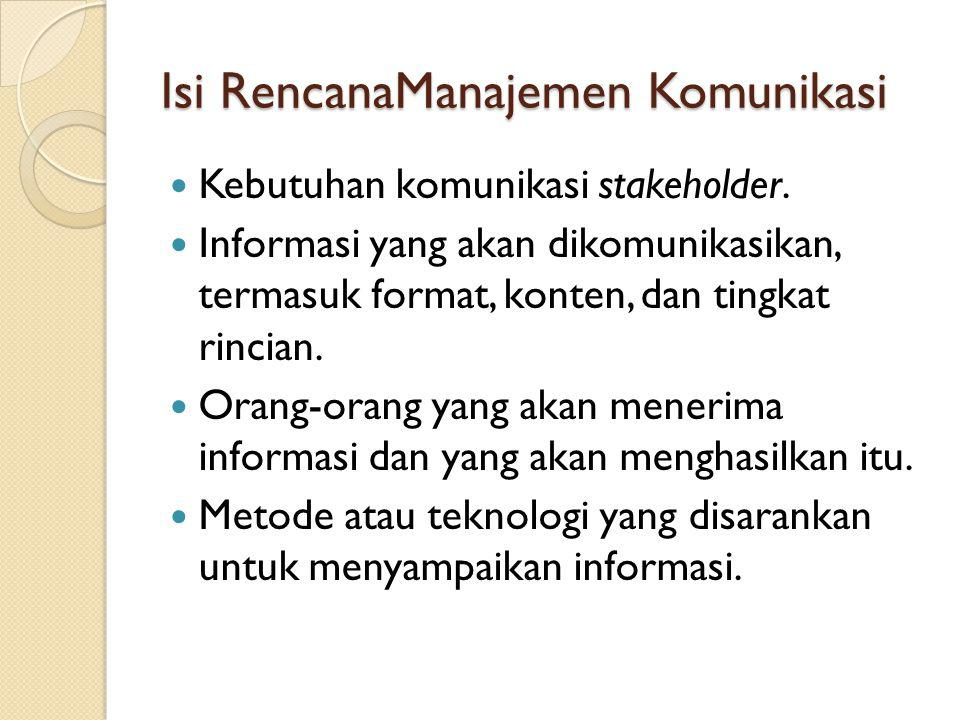 Isi RencanaManajemen Komunikasi