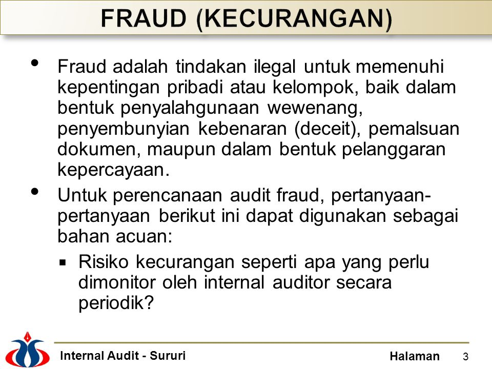 FRAUD (KECURANGAN)