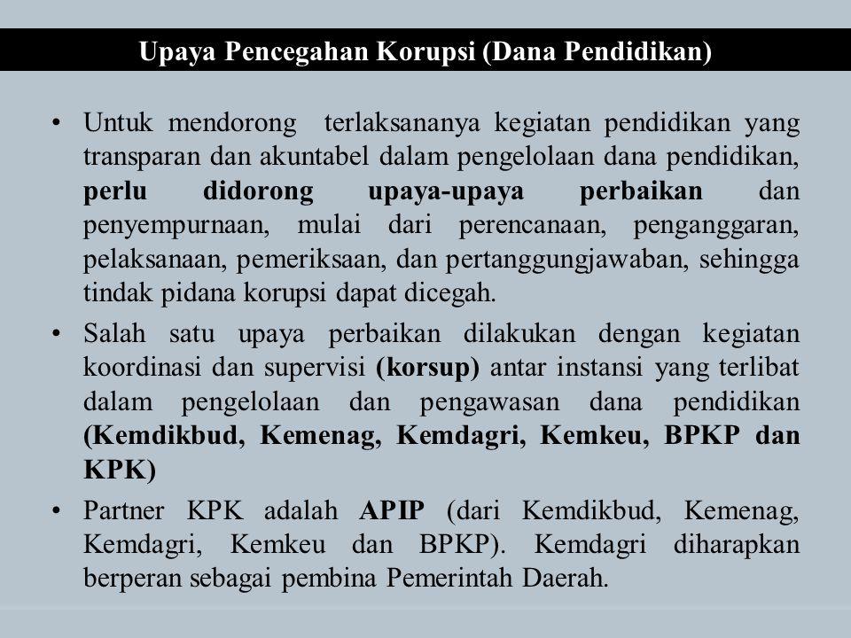 Upaya Pencegahan Korupsi (Dana Pendidikan)