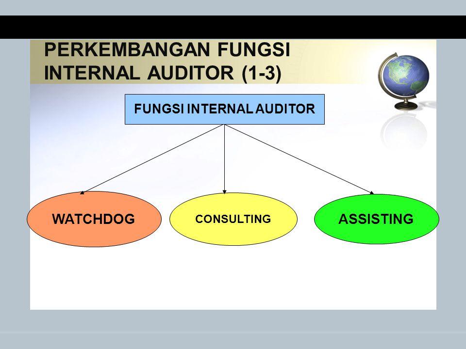 PERKEMBANGAN FUNGSI INTERNAL AUDITOR (1-3)