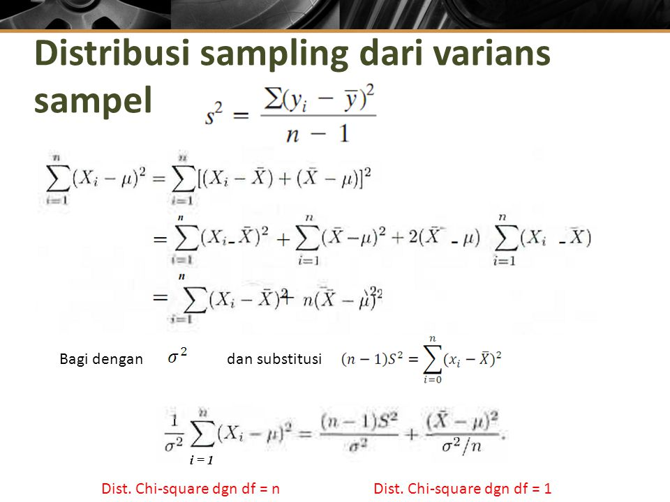 Distribusi sampling dari varians sampel