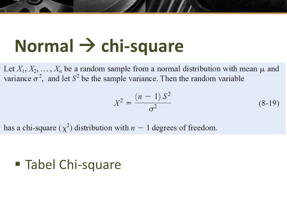 Normal  chi-square Tabel Chi-square