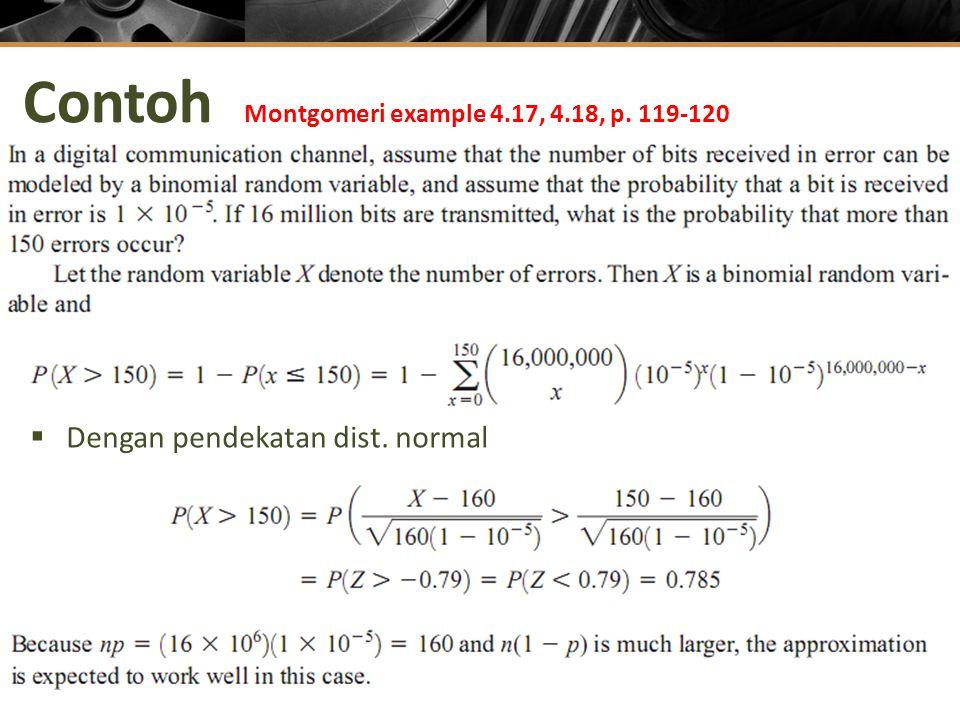 Contoh Montgomeri example 4.17, 4.18, p. 119-120