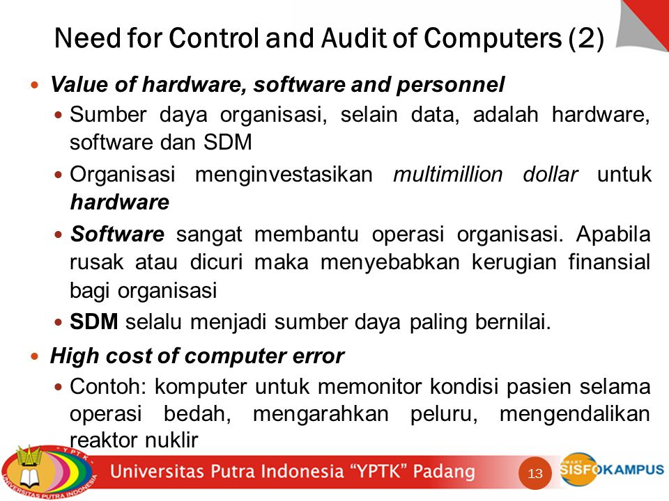 Need for Control and Audit of Computers (2)