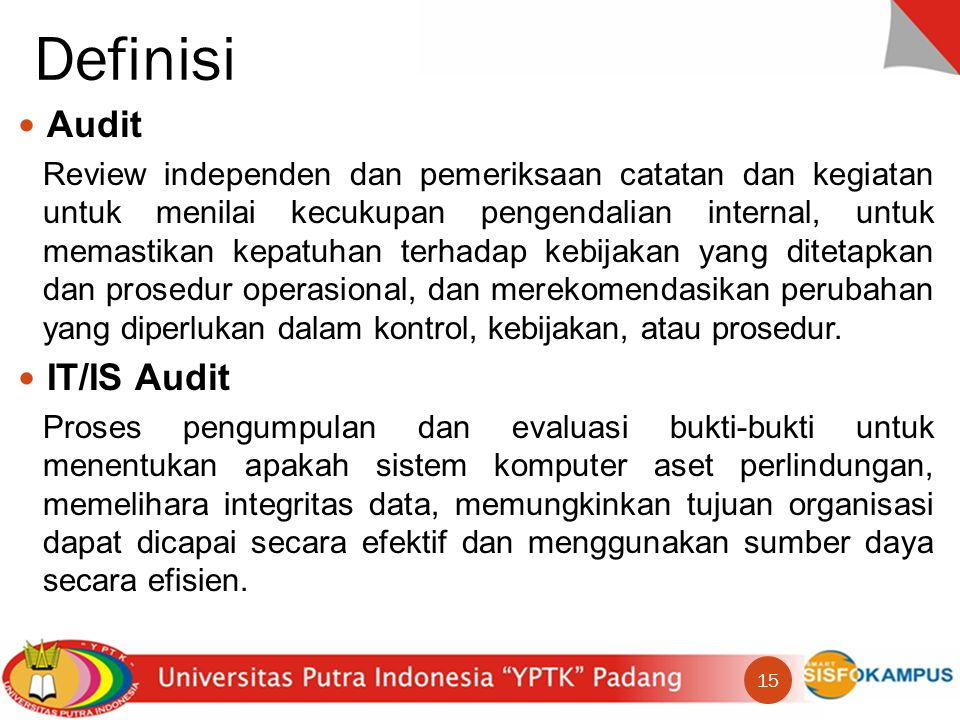 Definisi Audit IT/IS Audit