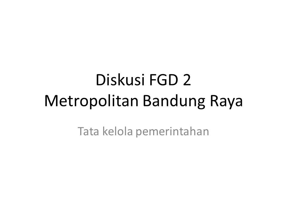 Diskusi FGD 2 Metropolitan Bandung Raya