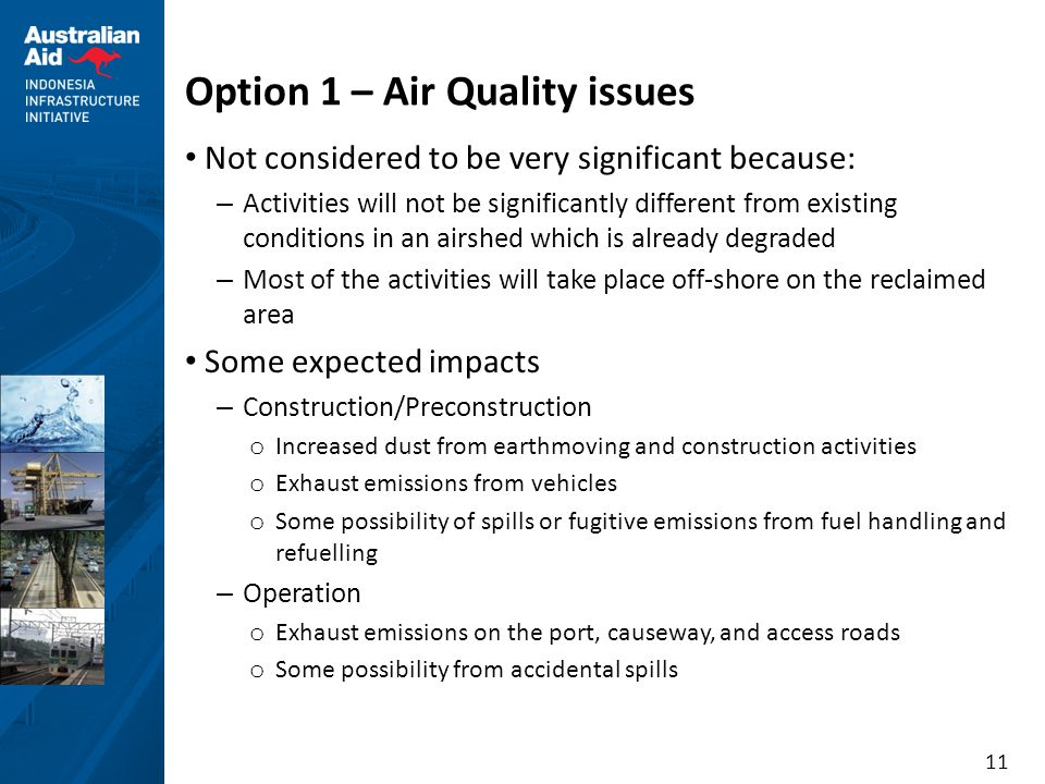Option 1 – Air Quality issues