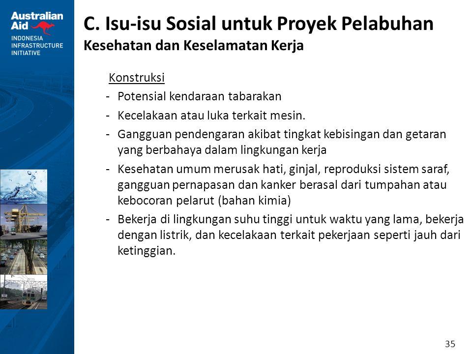 C. Isu-isu Sosial untuk Proyek Pelabuhan