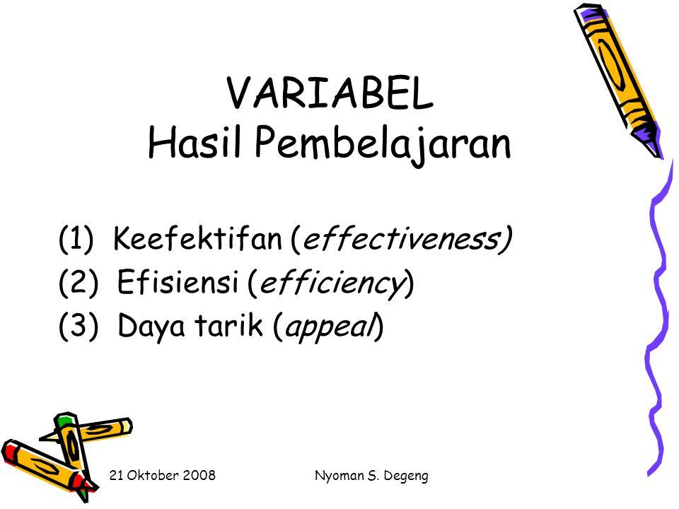 VARIABEL Hasil Pembelajaran