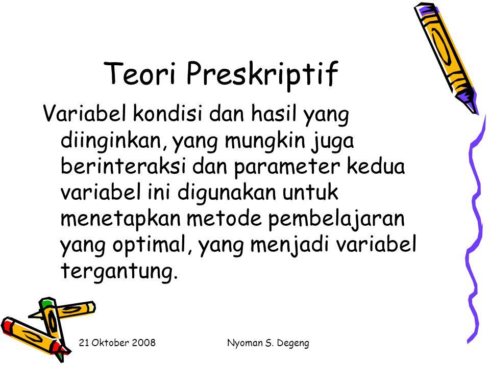 Teori Preskriptif