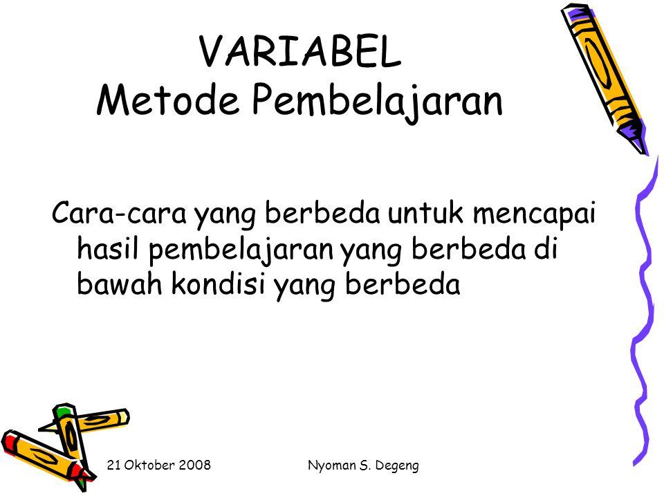 VARIABEL Metode Pembelajaran