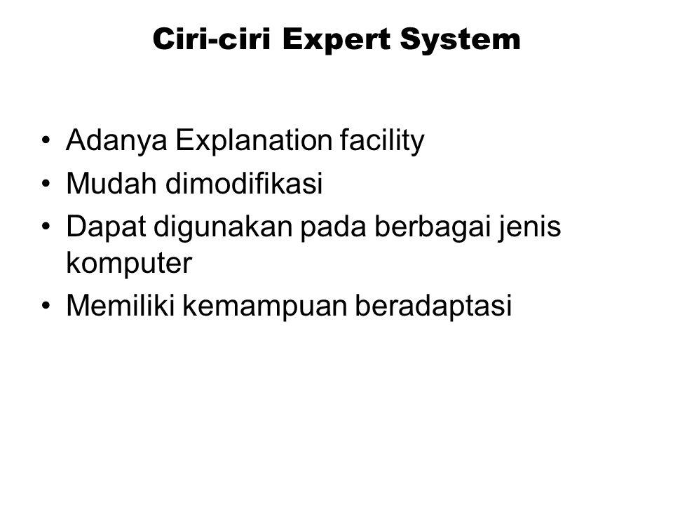 Ciri-ciri Expert System