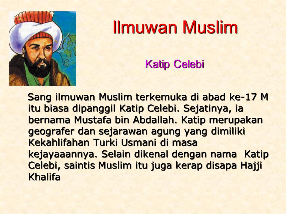 Ilmuwan Muslim Katip Celebi