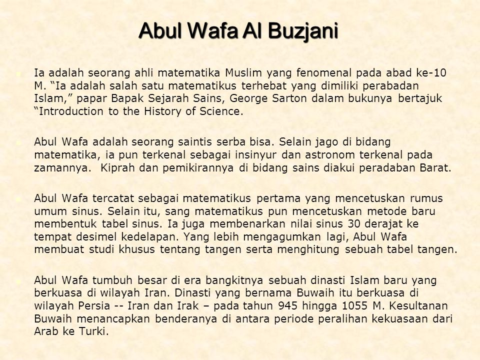 Abul Wafa Al Buzjani