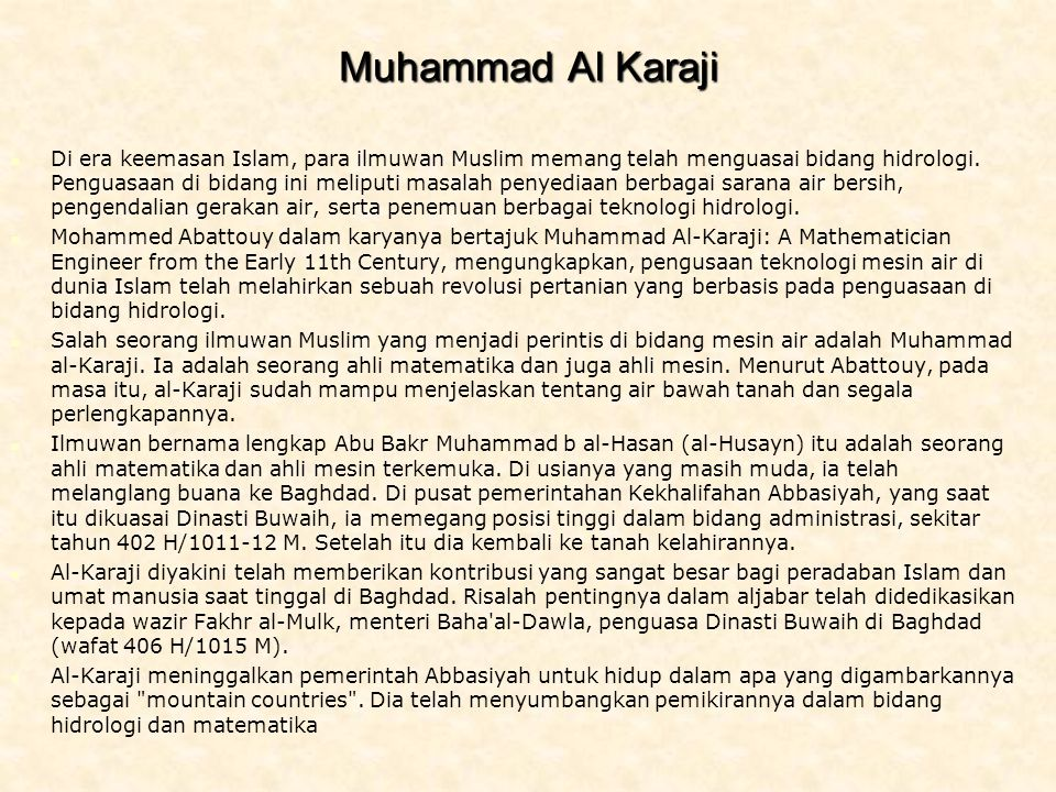 Muhammad Al Karaji