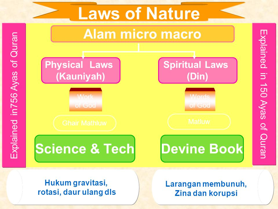 Laws of Nature Alam micro macro Science & Tech Devine Book