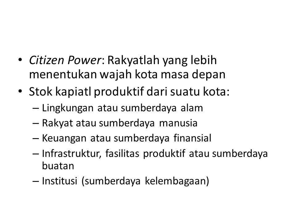 Citizen Power: Rakyatlah yang lebih menentukan wajah kota masa depan