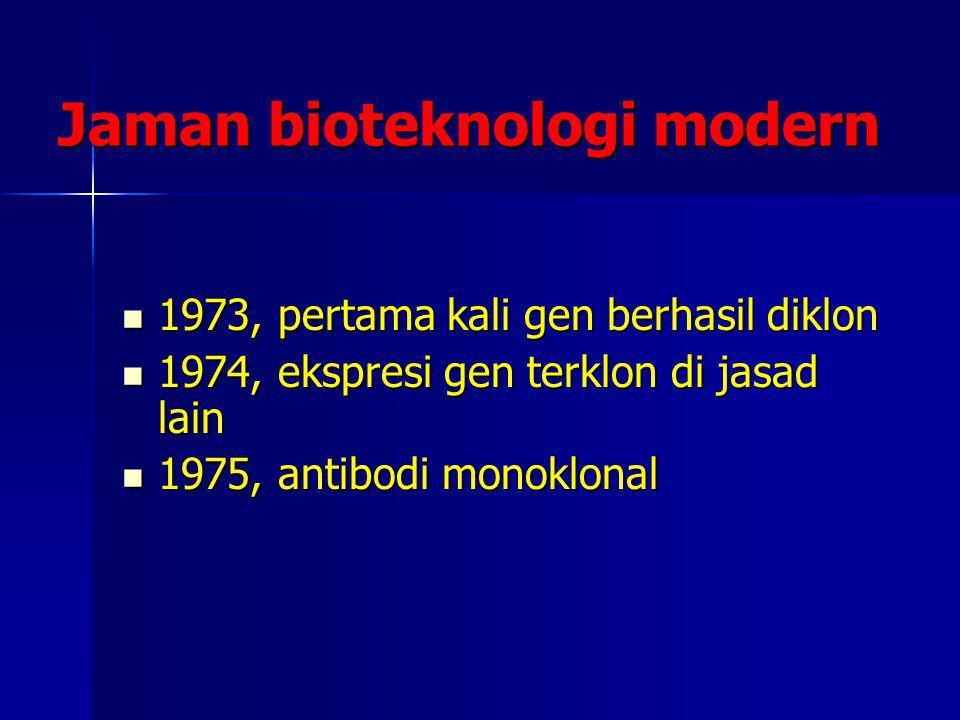 Jaman bioteknologi modern
