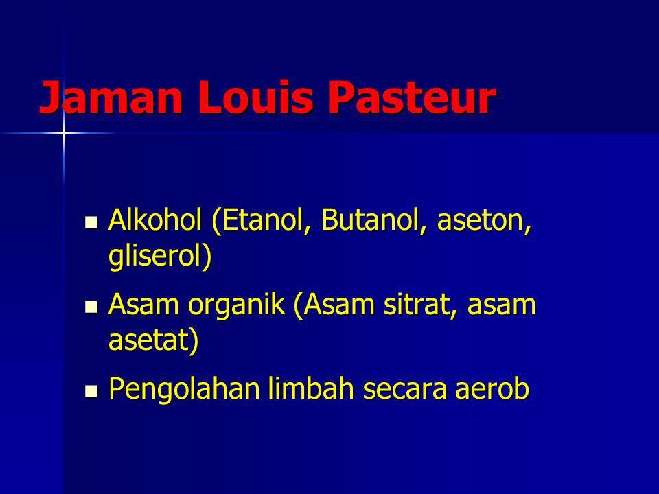 Jaman Louis Pasteur Alkohol (Etanol, Butanol, aseton, gliserol)