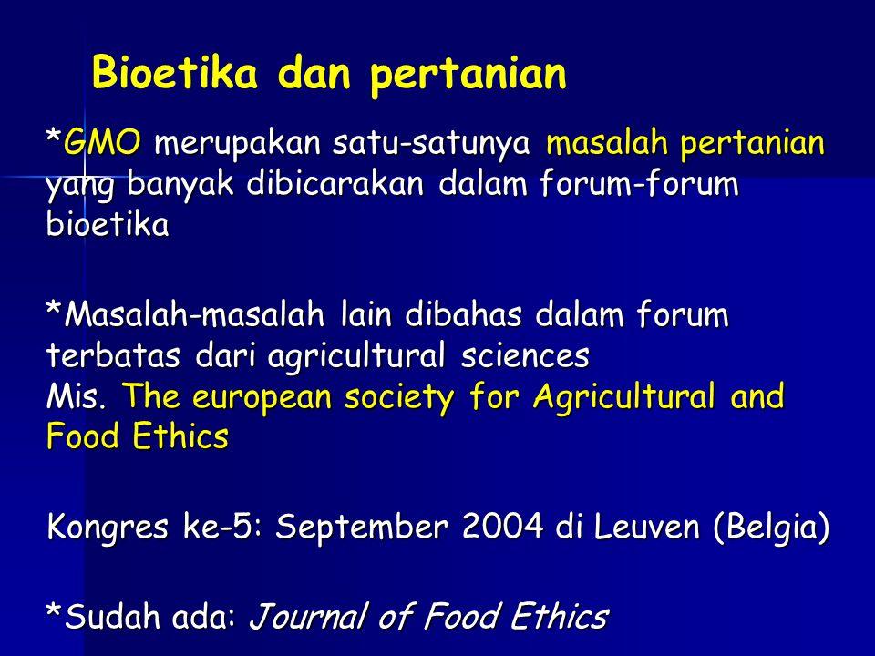 Bioetika dan pertanian